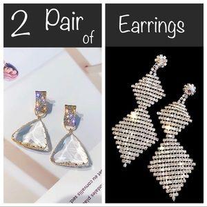 2 pair of sparkly earrings